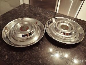 2 Cadillac Vintage Hubcaps Wheel Covers Deville Fleetwood Antique Around 16