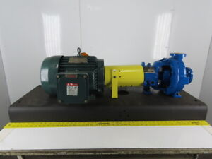 Durco Rpe1ya5 25 7 5hp 1 1 2 x1 Stainless Centrifugal Pump Package 230 460v