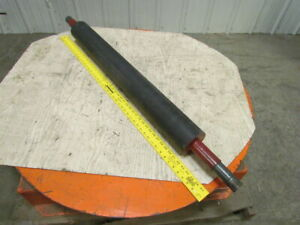 Rubber Urethane Coated Steel Pulley Conveyor Roller 4 1 2 x38 1 4 long 47 Bf