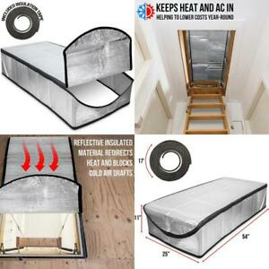 Righthand Attic Stairway Cover Reflective Insulator Tent For Pull Down Ladder