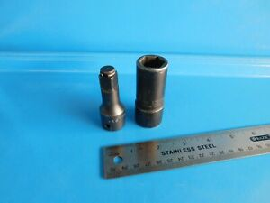 Used Snap On Tools 1 2 In Dr Sae Flip Socket Extension Lot Of 2 Pc S