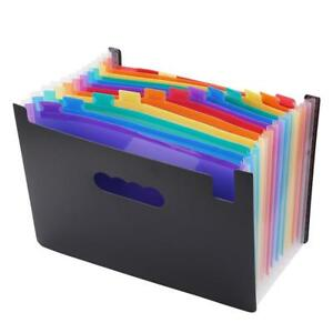 Folder Office Expanding File Accordion Organizer Document Multi Pockets Q