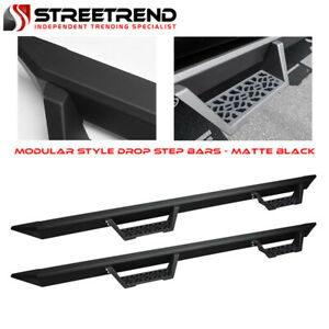 For 2007 2020 Tundra Crewmax extended Crew Matte Blk Modular Drop Step Nerf Bars