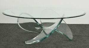Lucite Propeller Coffee Table In The Style Of Knut Hesterberg 1970s Mid Century