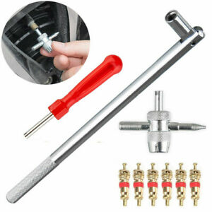 Valve Stem Installation Remover Repair Hd Chrome Tool Puller Car Tire Plug Core