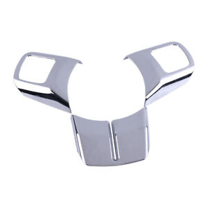 Abs Chrome Steering Wheel Cover Trim Fit For Jeep Grand Cherokee Patriot Compass