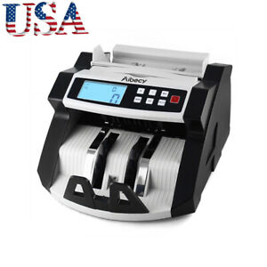 Aibecy Digital Currency Counter Cash Money Value Counterfeit Detector Uv