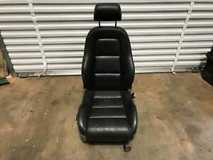 00 01 02 03 04 05 06 Audi Tt Seat Right Passenger Side Black Leather W airbag