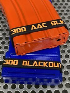 10 PACK of 300 AAC BLK 300 BLACKOUT Magazine Mag ID Bands Free Shipping THICKER $15.99