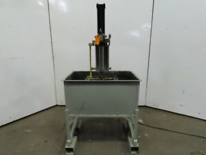 Air Actuated 35 Gallon Carbon Steel Small Parts Dip wash test Tank 31 x19 x14