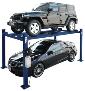 Tce 4 Post Narrow Tall Parking Hobby Car Lift 7 000 Lb Capacity