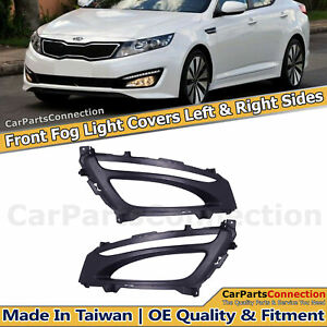 Fog Light Covers Left Right With Led Drl Slot For Kia Optima Sx 2012 2013