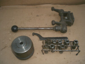 Logan Lathe Production Collet Attachment With Collets