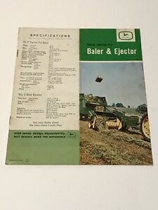 1960 s John Deere Tractor 24t Baler Ejector Dealers Promotional Catalog Manual