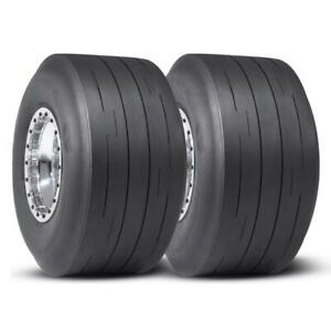 2 Mickey Thompson Et Street R Drag Dot Tires Slick Bias 28x11 5 15 Pair