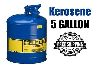 Blue Metal Safety Can Type 1 Five Gallon Capacity For Kerosene Free Shipping