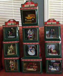 Large Collection of Coca Cola Town Square Christmas Village Accessories