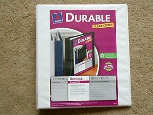 Avery 1 Durable Clear Cover Heavy Duty Ring Binder Hold 220 Sheets