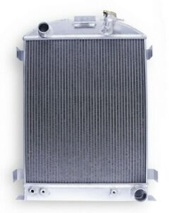 3 Rows Alum Radiator For 1932 Ford Hi boy Hot Rod Chevy Engine Grill V8 At mt