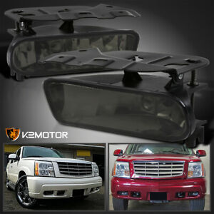 For 2002 2006 Cadillac Escalade Smoke Tinted Fog Bumper Lights Lamps Left right