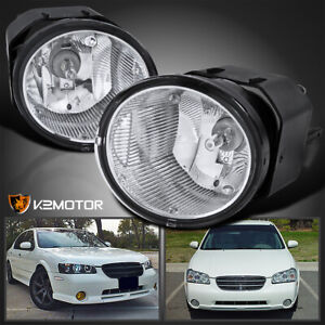 For 2000 2003 Nissan Maxima Sentra Bumper Fog Driving Lights Lamps Switch Pair