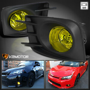 For 2011 2013 Scion Tc Yellow Daytime Running Bumper Fog Lights Switch Wiring