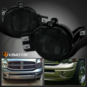 For 2002 2008 Dodge Ram 1500 2500 3500 Pickup Smoke Bumper Driving Fog Lights
