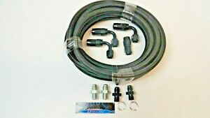 70 81 Automatic Transmission Cooler Line Kit 6an Black Braided Th350 400 700r4