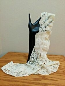 Antique Lace Trim 52 X 3 Ideal For Costume Design Or Doll Clothes