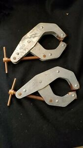 Kant Twist 4 1 2 Clamp Set Of 2 No 415 Cantilever Welder Clamps Set1
