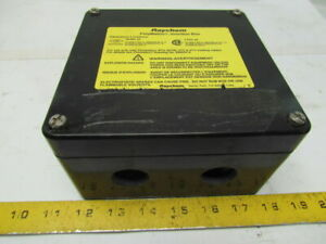 Raychem Polymatrix Junction Box Double Entry 6 x6 x3 Nema 4x