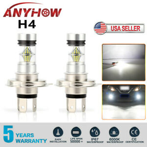 Anyhow H4 9003 100w 20000lm 6000k Car Led Conversion Headlight Bulb Hi Low Beam