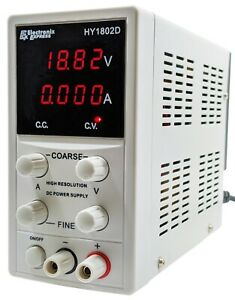 Variable Dc Power Supply 0 18v 0 2a With Lcd Displays