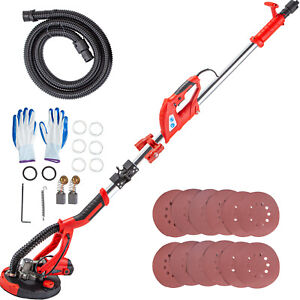 Drywall Sander 750w Wall Grinding Foldable 5 Speeds Vacuum System W Led Light