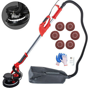 Drywall Sander 750w 225mm Extendable Handle 5 Speed W Led Light And Vacuum Bag
