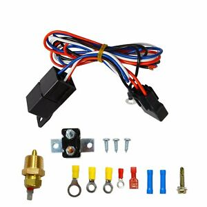 3 8 Thermostat Temperature Switch Relay Kit Universal Radiator Engine Fan