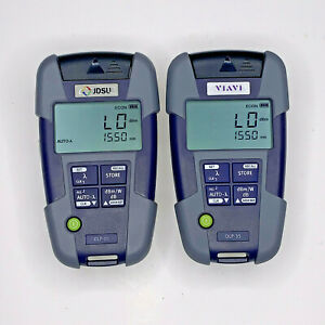 Pair Of Jdsu Viavi Olp 35 2302 12 Fiber Optic Power Meter