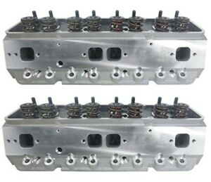 Precision Race Cylinder Heads Small Block Chevy W 660 Lift Springs Sbc 350 383
