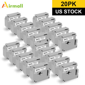 20pk M k231 Mk 231 M Label Tape Compatible With Brother P touch Label Maker 12mm