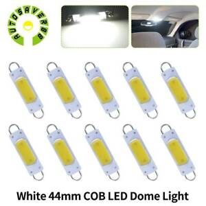10x 44mm 561 Festoon Cob Rigid Loop Led Interior Door Courtesy Light Bulbs White