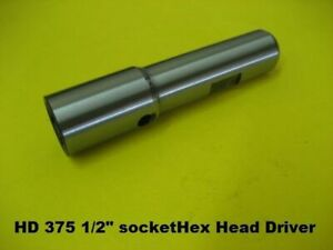 1 2 Hex Socket Driver For Valve Seat Cutter Heads 5 8 shank With 3 8 pilot Hole