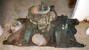 Yearly 70 S Mopar Dodge Plymouth 318 2 Bbr Intake Manifold 3698431 Pick Up Only