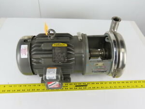 Tri clover 218me18t s 3 X 1 1 4 Stainless Steel Centrifugal Pump 3hp 3ph