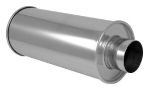 3 5 Center In Out Vibrant Streetpower Round Muffler Stainless Steel 1124