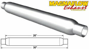 Magnaflow Perf Exhaust Glass Pack Muffler 2 5in Aluminized Large 18146