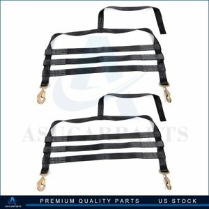 2x Car Tow Dolly Straps Tire Basket 10000lbs High Quality Black