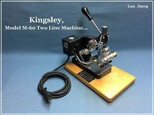Kingsley Machine M 60 Two line Machine Hot Foil Stamping Machine