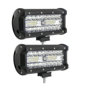 1pc 7inch 120w Combo Led Working Light Bar Spot For Driving Offroad Truck Us