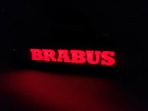 Mercedes G Wagon G63 G55 G500 W463 Brabus Style Abs Front Grille Badge Red Led