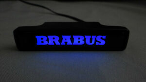 Mercedes G Wagon G63 G55 G500 W463a Brabus Style Abs Front Grille Badge Blue Led
